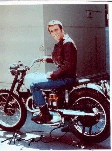 what kind of motorcycle did Fonzie ride - triumph - www.MotorbikeLicense.com