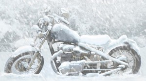 Riding a motorcycle in the snow - motorcycle snow - www.MotorbikeLicense.com